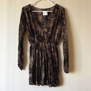 Brandy Melville brown floral mini dress, NWOT!